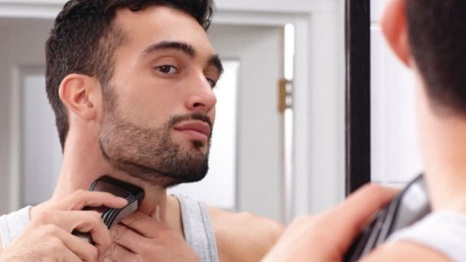 Learn how to trim your cheeks and neck in our guide
