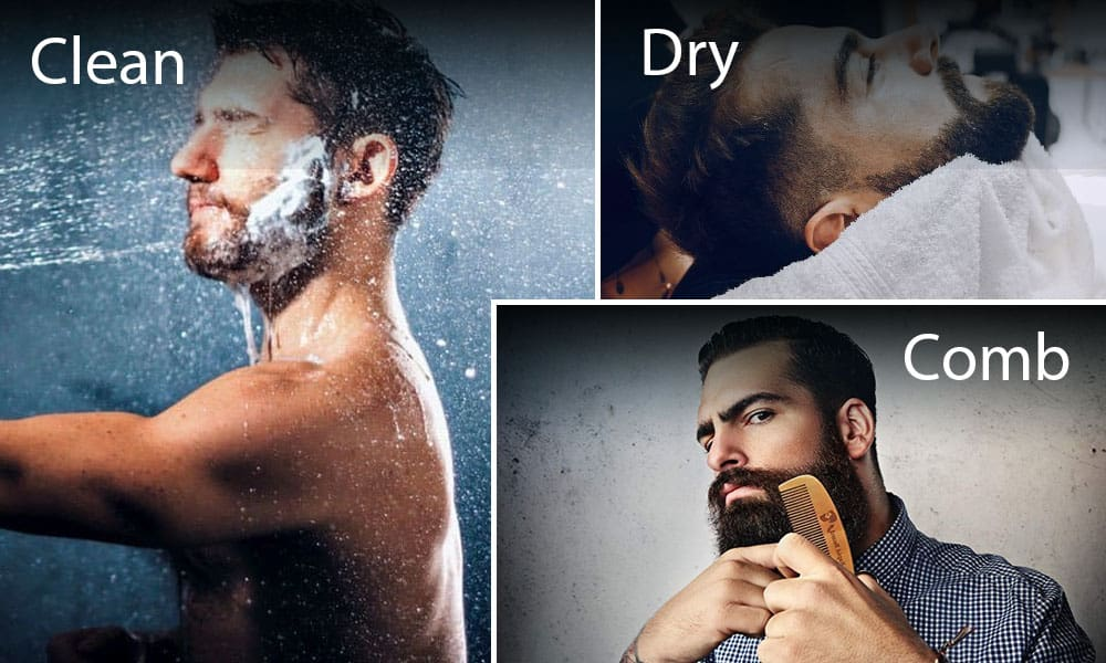 Maintaining straight beard hair instruction