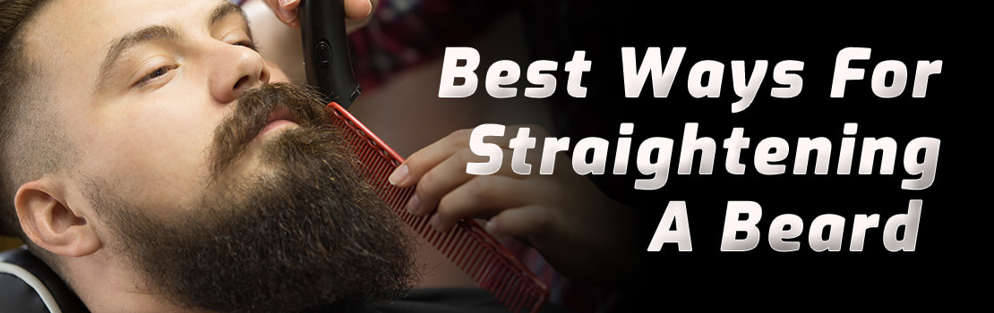 A man comb and cut the beard